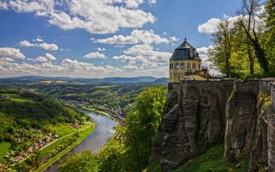 Saksonijos Sveicarija  Castle Koenigstein