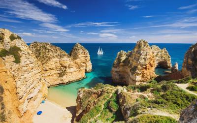Algarve   bay near Lagos town