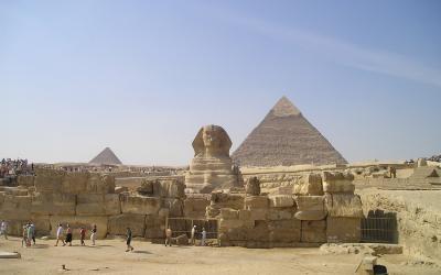 Egiptas. Giza. Piramidės
