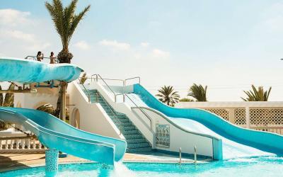 Tunisas. Djerba. Djerba Aqua Resort. Vandens kalenliai
