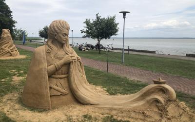 Smėlio skulptūros Juodkrantėje 2020 m.