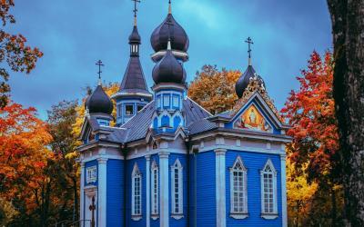 """Druskininkų Dievo Motinos ikonos """"Visų liūdinčiųjų Džiaugsmas"""" cerkvė (aut. J.Šeibokas)"""