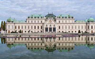 Austrija. Viena. Belvedere pilis.