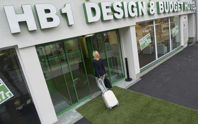 Austrija. Viena. HB1 Design budgethotel Wien-Shonburnn