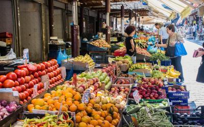 Graikija. Atėnai. Maisto turgus