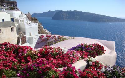 Graikija. Santorinio sala.