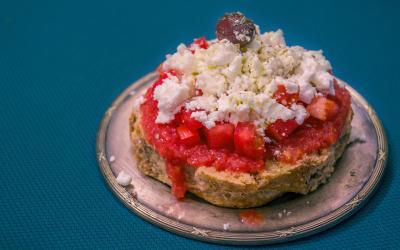 dakos. graikiškas desertas