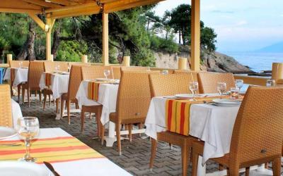 Graikija. Taso sala. Thassos hotel. Restorano terasa