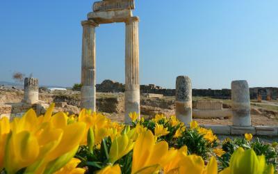 Turkija. Pamukalė. Hierapolis
