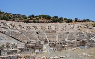 Turkija. Bodrumas. Antikinis teatras - amfiteatras