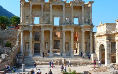 Turkija. Efesas. Antikos griuvėsiai - vieša biblioteka