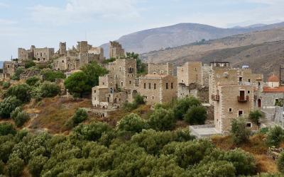 Graikija. Peloponesas. Gyvenvietė kalnuose