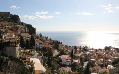 Italija. Sicilijos sala. Taormina miestas