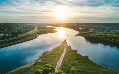 Upių santaka, Kaunas