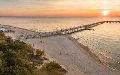 Palangos tiltas ir paplūdimys